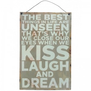 Chic Obrazek Kiss Laugh and Dream