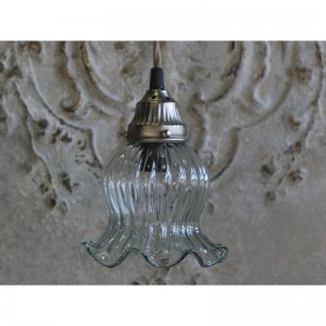 Szklana Lampa Chic Antique Tulipan
