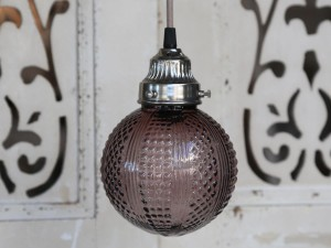 Chic Lampa szklana kula purple 5
