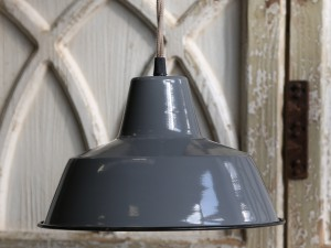 Chic Lampa Emalia Scandi grey 2